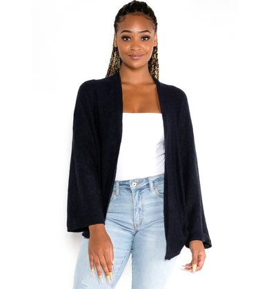 FALLING LEAVES CARDIGAN - NAVY