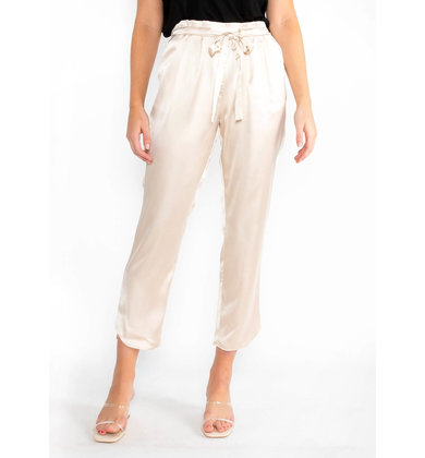 OLIVER SILK JOGGERS - CHAMPAGNE
