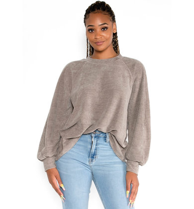 COME THROUGH SWEATER - TAUPE