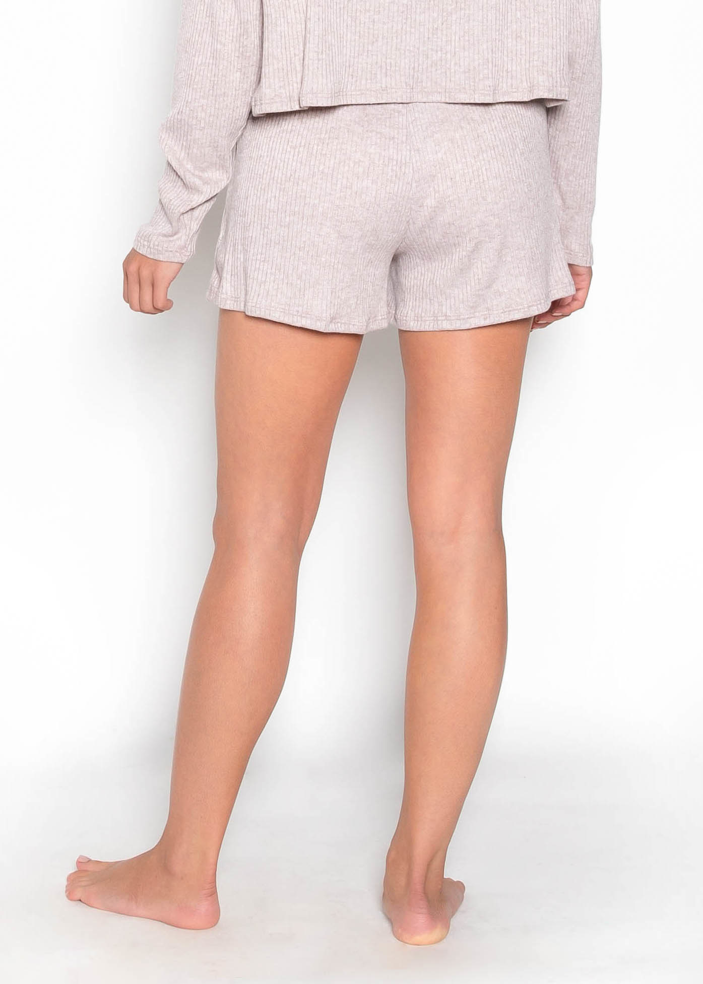 WAKE UP CALL RIBBED SHORTS