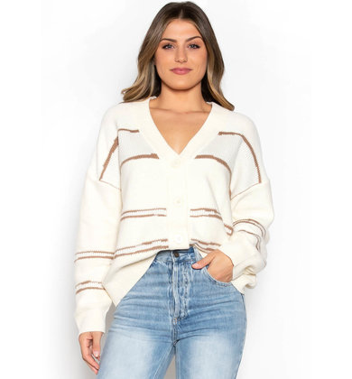 HARVEST MOON STRIPED CARDIGAN
