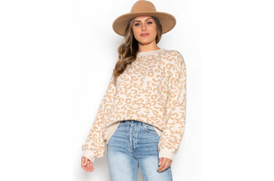 HIT PAUSE LEOPARD SWEATER