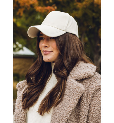 REPETITION LEATHER HAT - CREAM