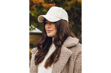 REPETITION LEATHER HAT - IVORY