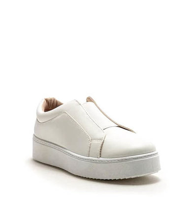 SIDEWALK PLATFORM SNEAKERS -WHITE