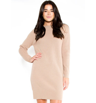 GOLDEN GAZE SWEATER DRESS