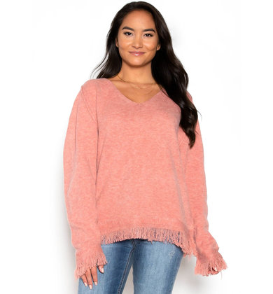 AUTUMN SUNSET FRINGE SWEATER