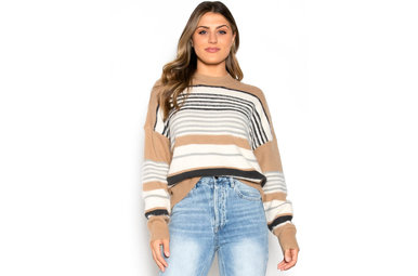 OCTOBER STROLL STRIPED SWEATER