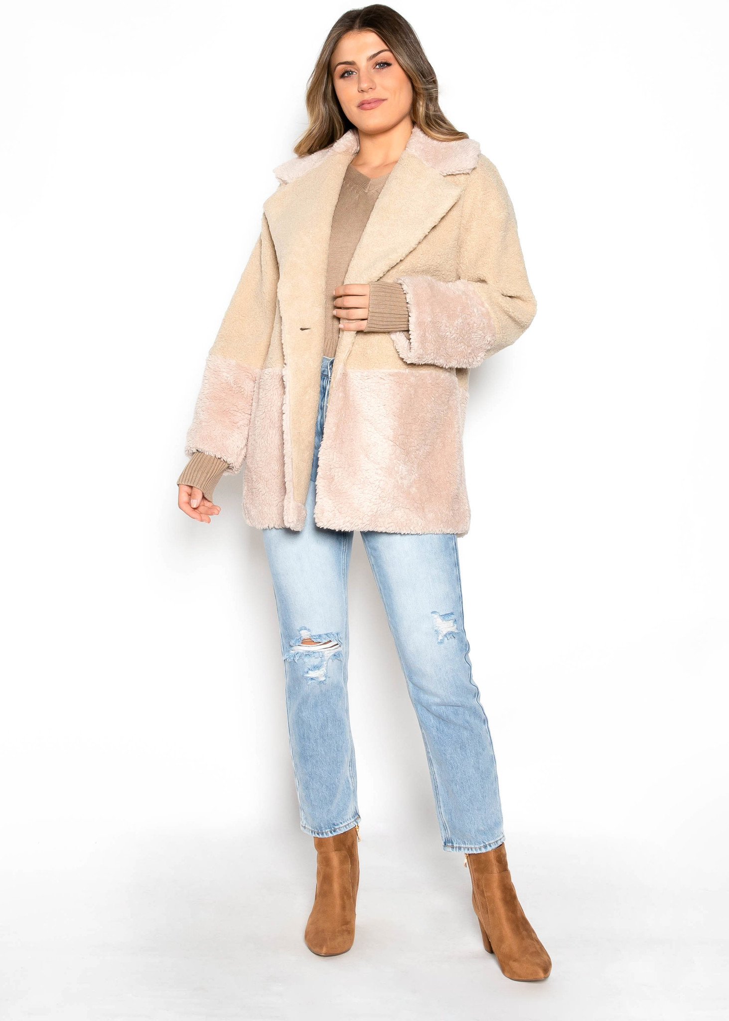 HELLO DARLING TWO TONE COAT