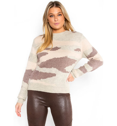BODY LANGUAGE PRINTED SWEATER