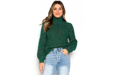 NEW OBSESSION MOCK NECK SWEATER