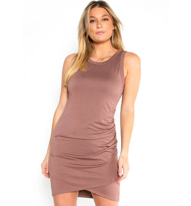 FORGET YESTERDAY RUCHED DRESS