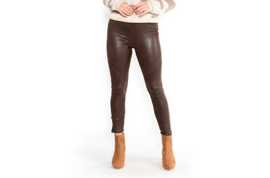 CABERNET LEATHER LEGGINGS