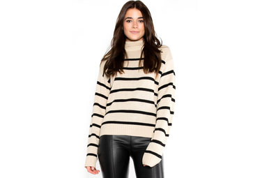 UPDATED STATUS STRIPED SWEATER