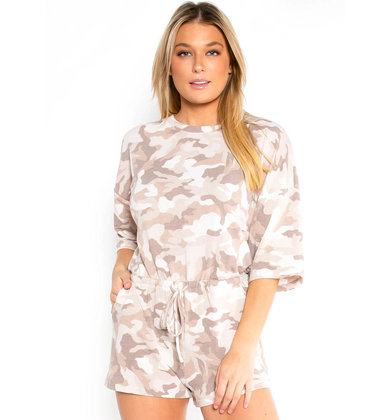 WEEKEND SPREE CAMO ROMPER