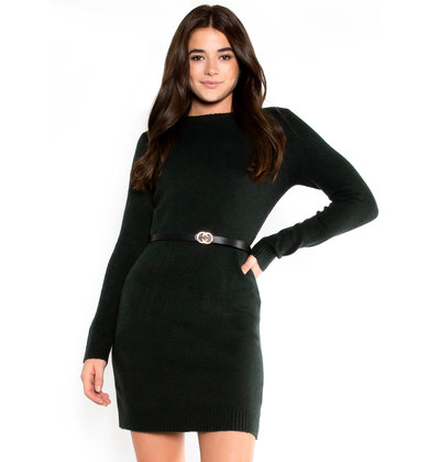 EVERGREEN SWEATER DRESS