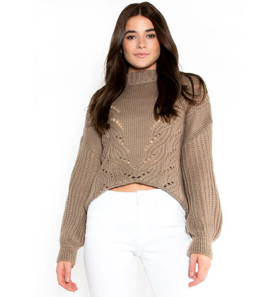 ALPINE MOCK NECK SWEATER