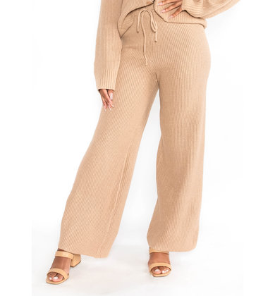 RENEW CAMEL KNIT BOTTOMS