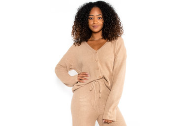 RENEW CAMEL KNIT CARDIGAN