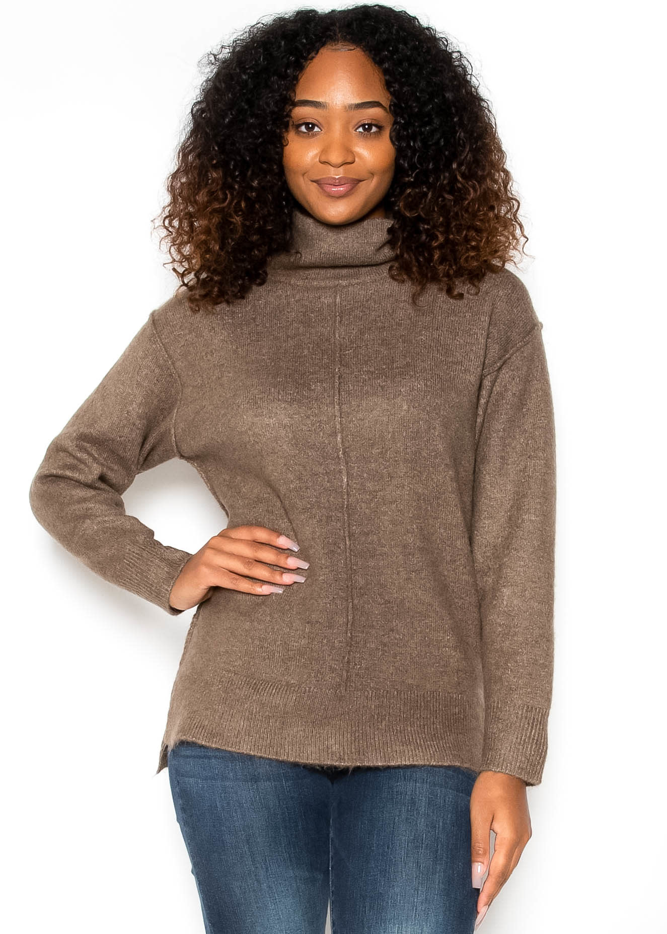 HOT CIDER MOCK NECK SWEATER