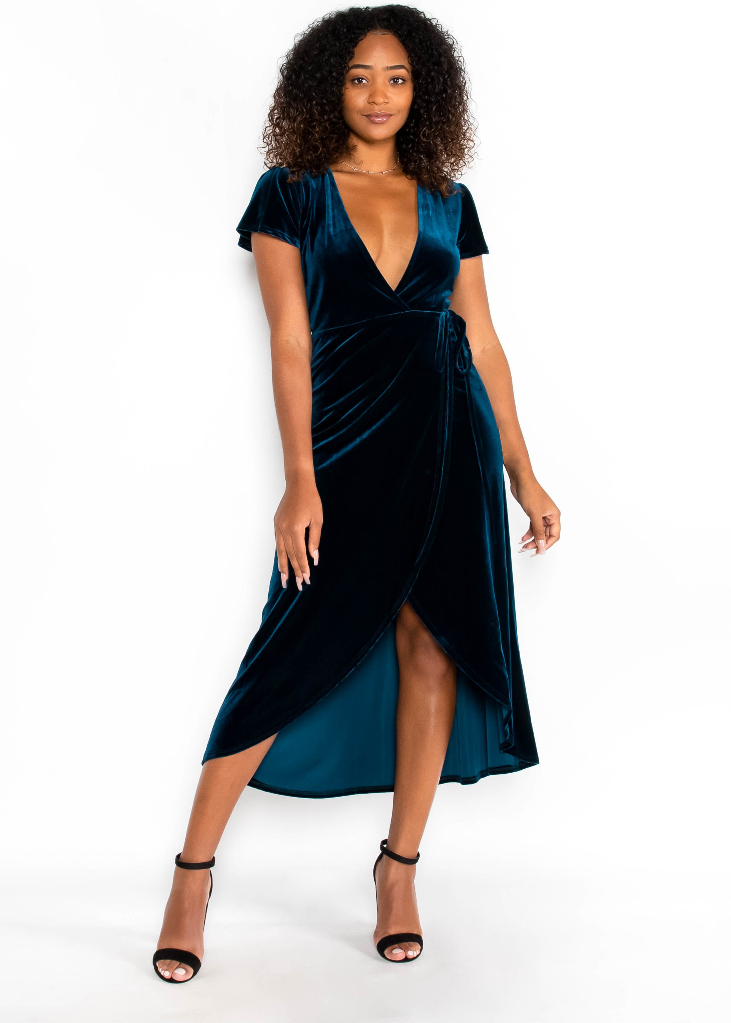 DIAMONDS IN THE SKY WRAP DRESS