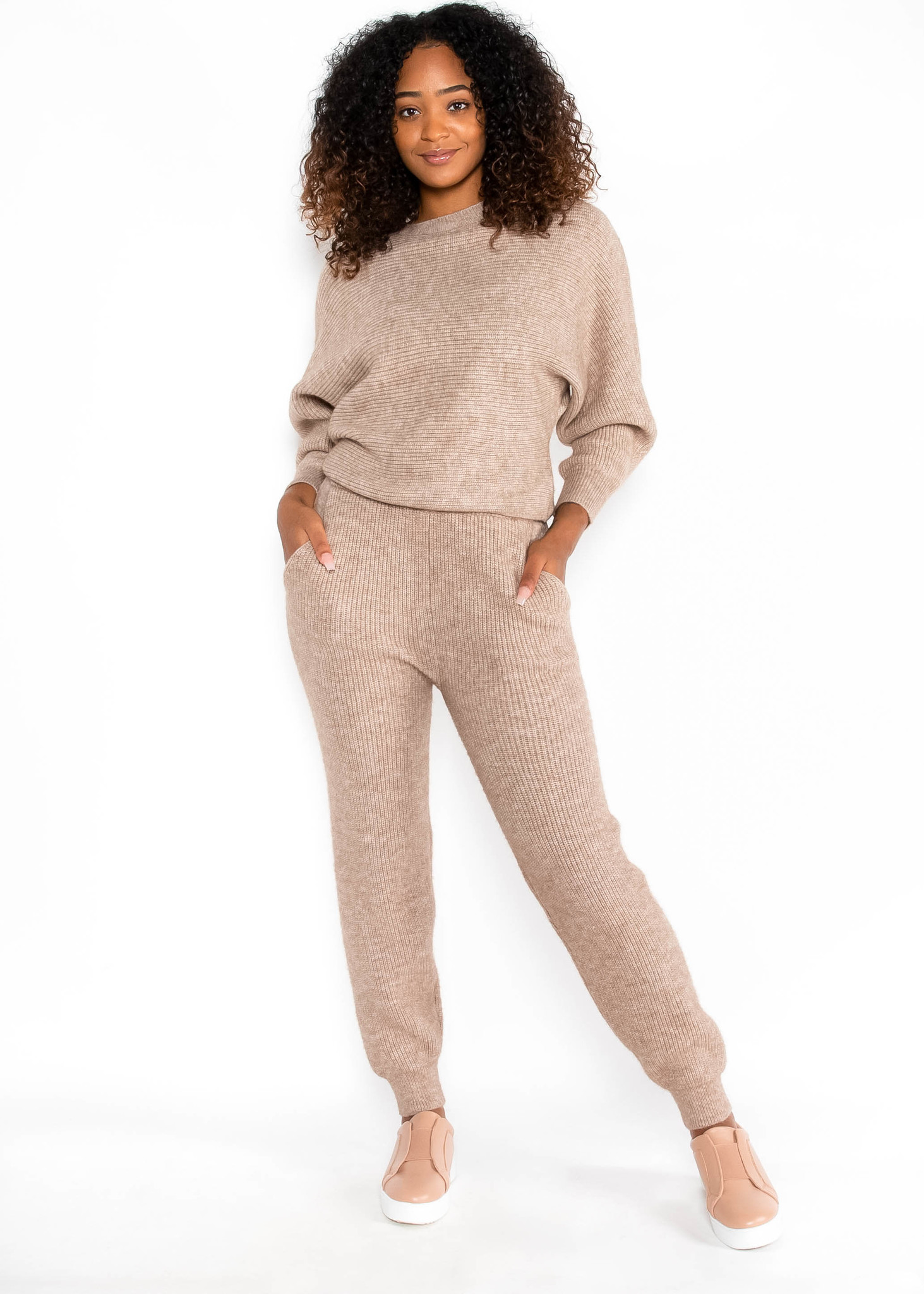 FOOL FOR YOU TAUPE SWEATER