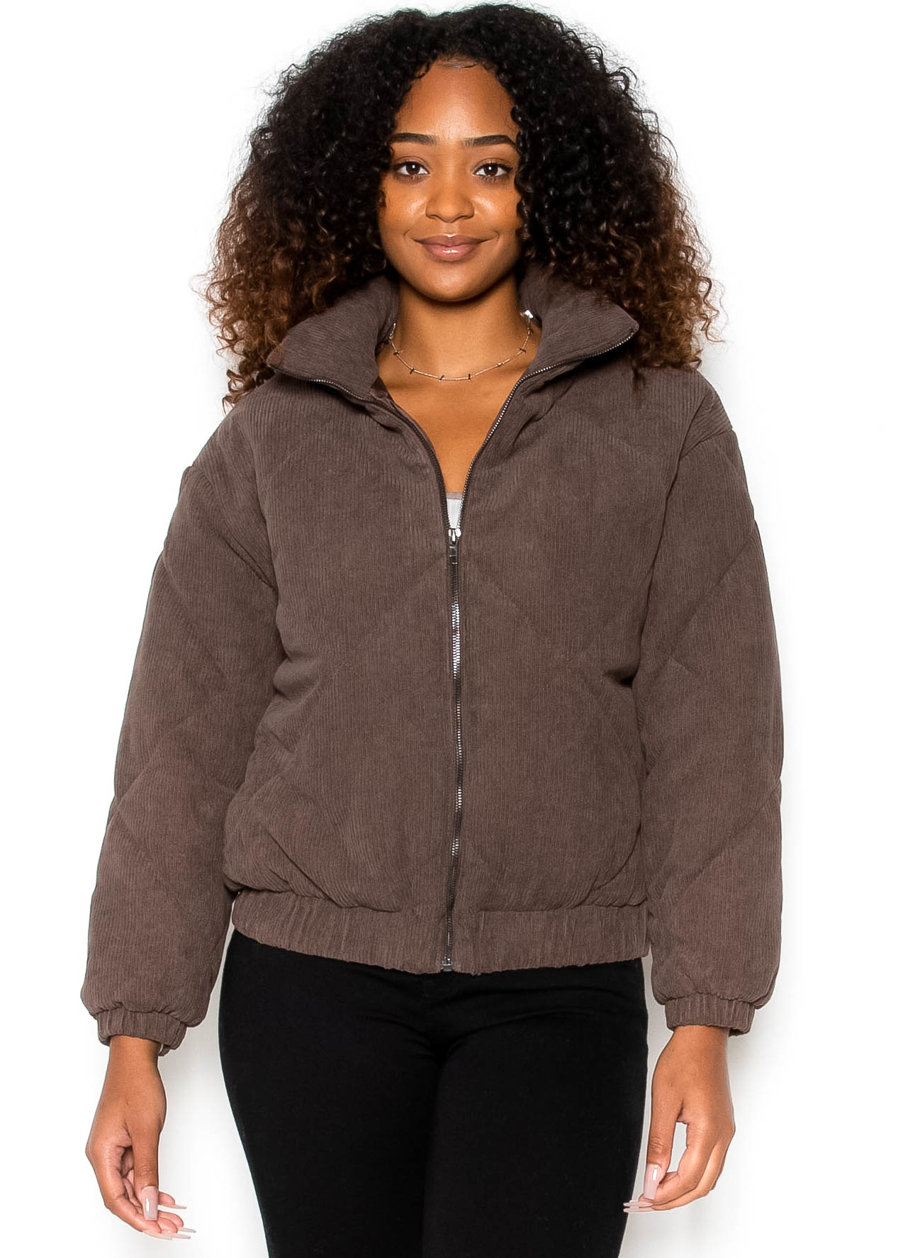 SCORPIO QUILTED JACKET - BROWN