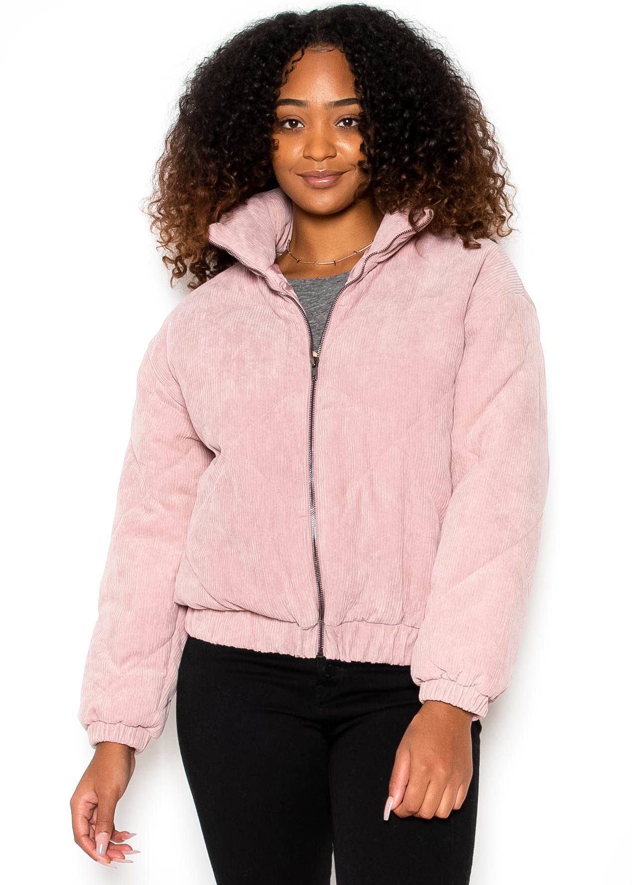 SCORPIO QUILTED JACKET - PINK