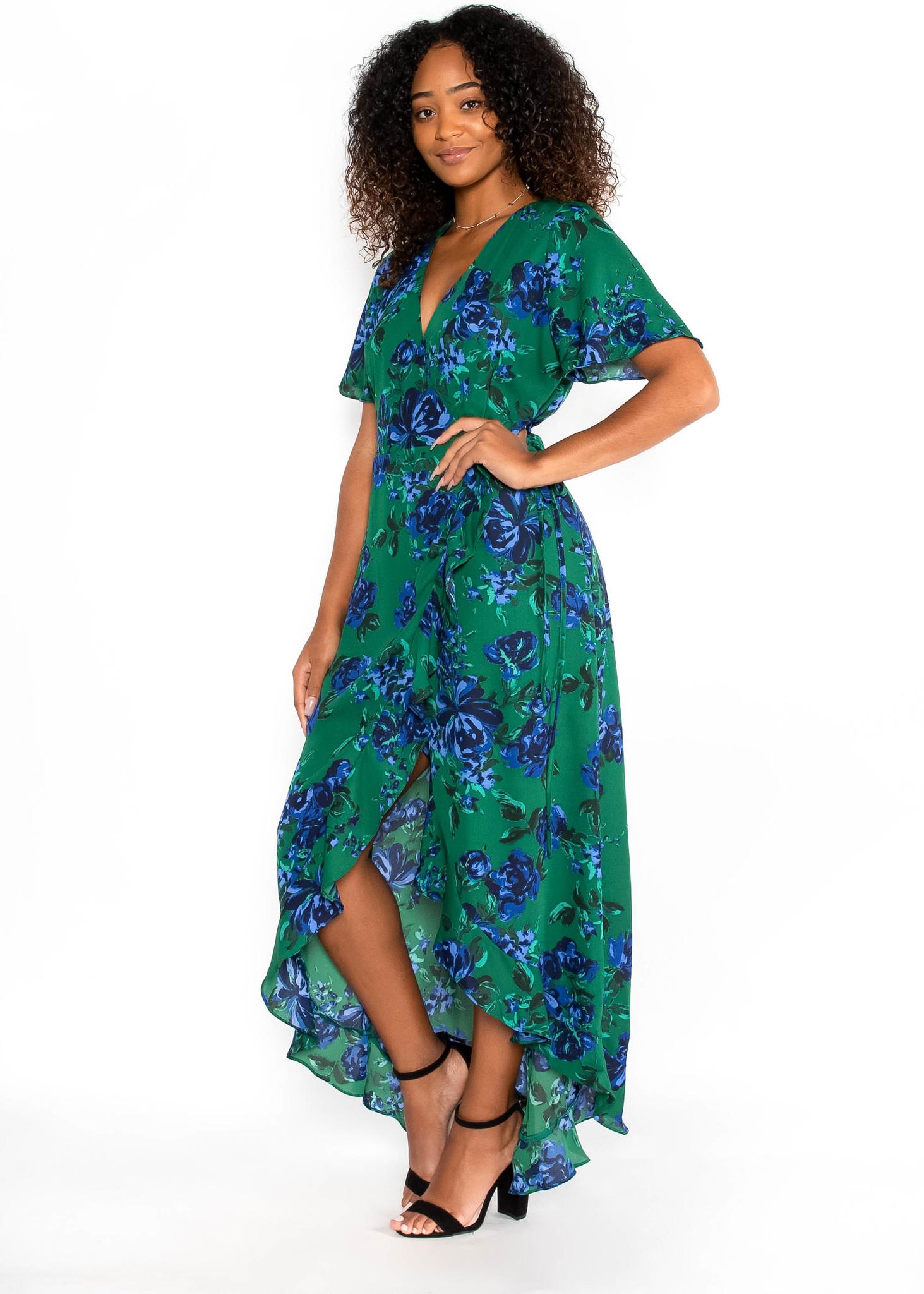 ROMANTIC GETAWAY FLORAL DRESS