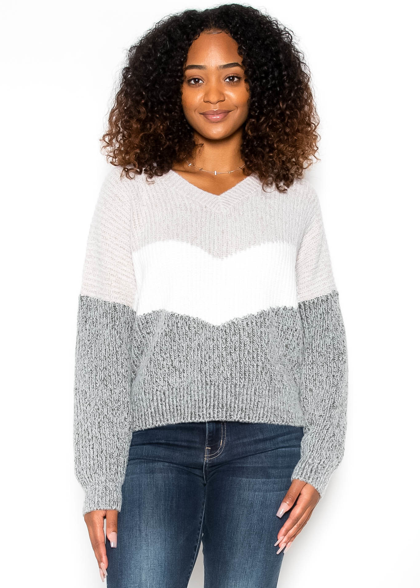 CHECKED OUT SWEATER - TAUPE