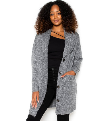 PARAMOUNT GREY LONG CARDIGAN