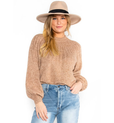 SPICED LATTE TEXTURED SWEATER