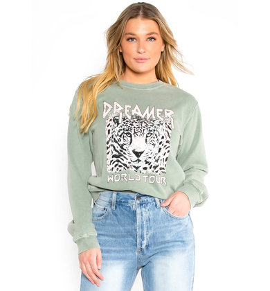 DREAMER GRAPHIC SWEATSHIRT - OLIVE