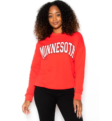 MINNESOTA SWEATSHIRT - RED