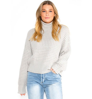 SILVER LINING GREY SWEATER