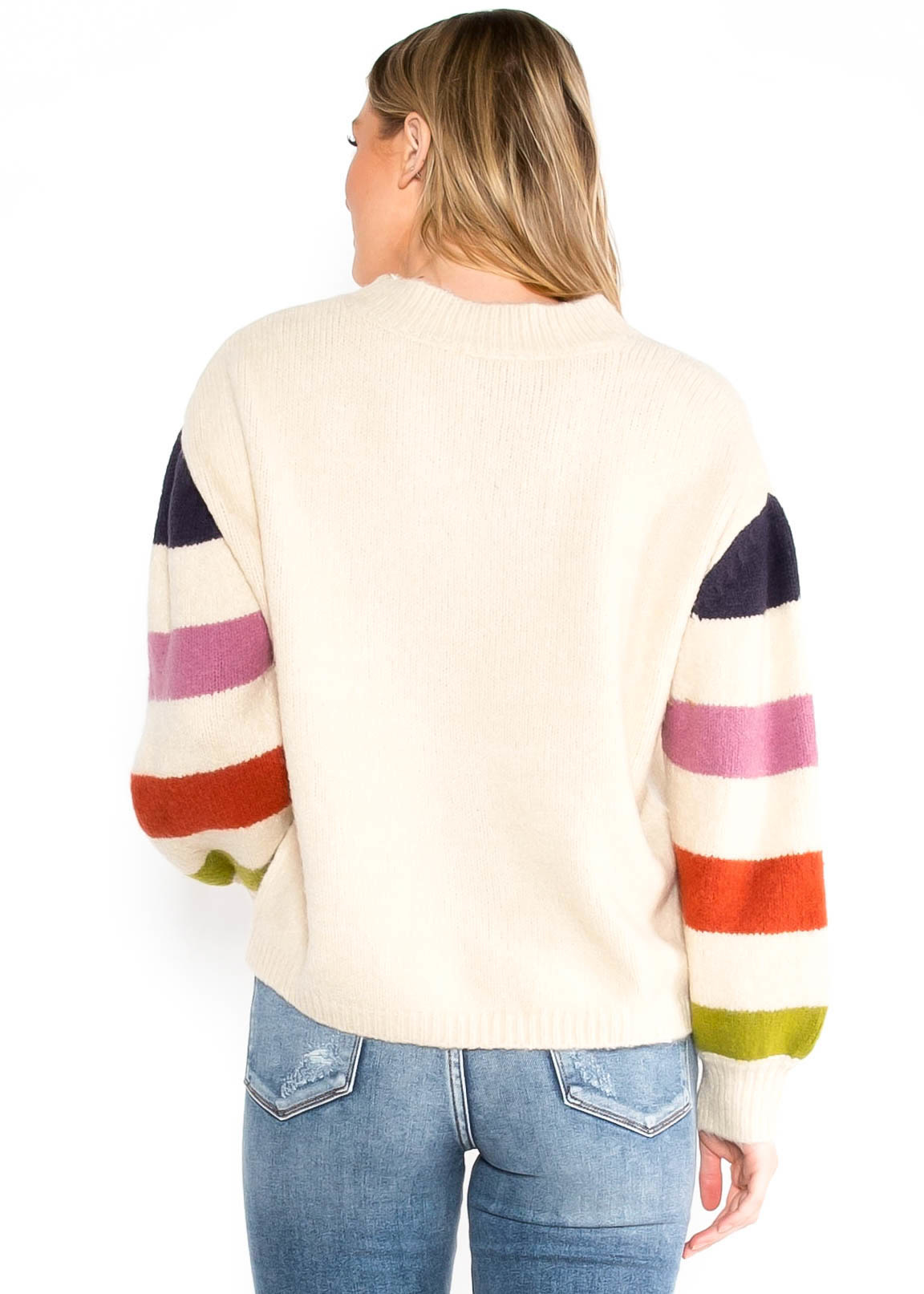 LIFE YOUR WAY STRIPED SWEATER