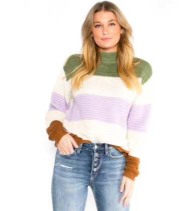 PAINT THE TOWN STRIPED SWEATER