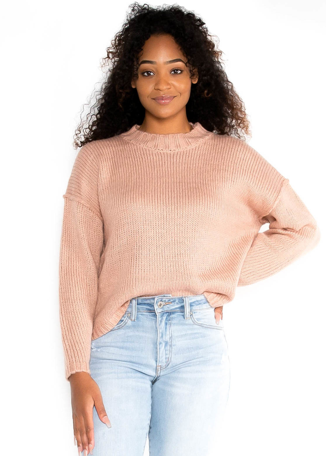ALL ABOUT FALL BLUSH SWEATER