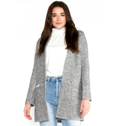 WALDORF GREY OPEN CARDIGAN