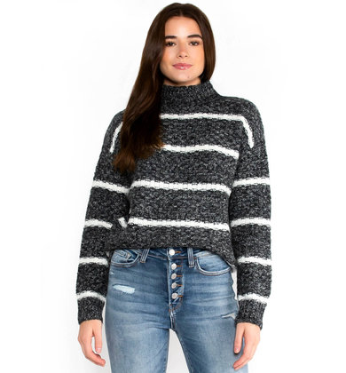 MANY MOONS STRIPED SWEATER