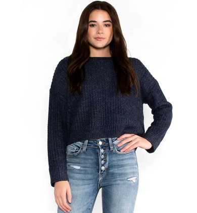 WINE DOWN SWEATER - NAVY