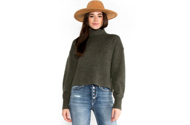 PEACE ON EARTH OLIVE SWEATER
