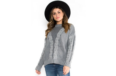 SNOW ANGEL CABLE KNIT SWEATER