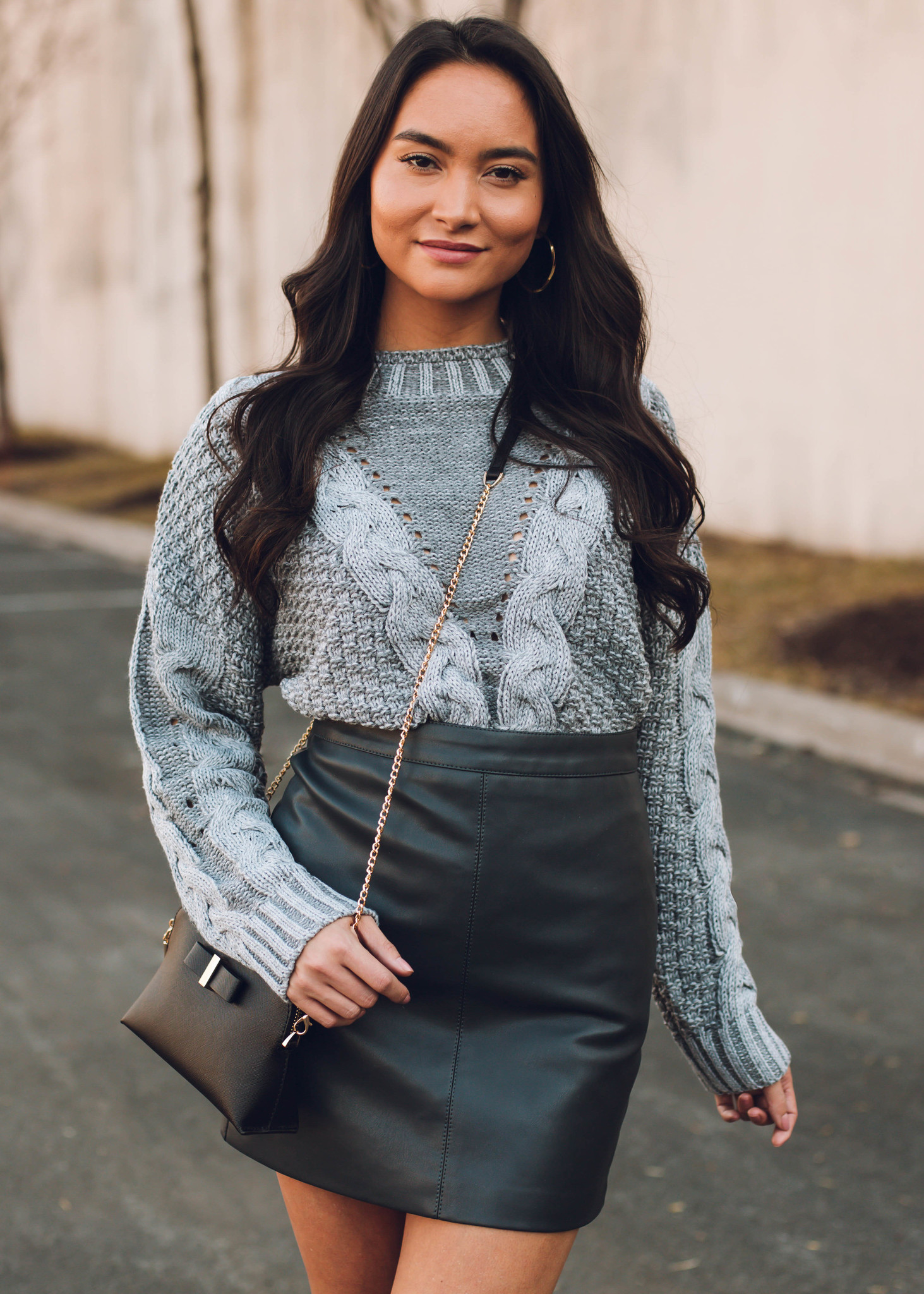 STRONG SUIT LEATHER MINI SKIRT