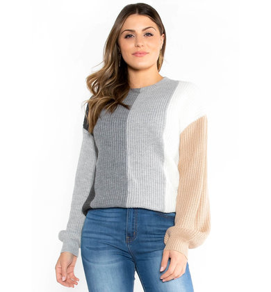 SIBLEY COLOR BLOCK SWEATER