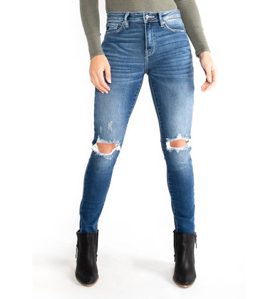 SMOOTH MOVER DISTRESSED JEANS