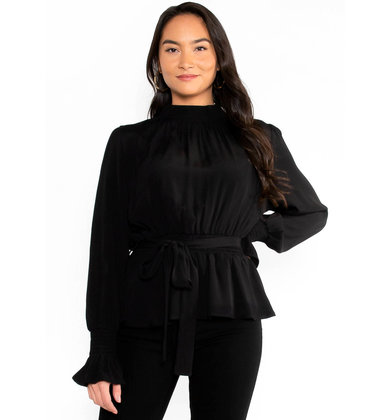 AWAITED REUNION PEPLUM BLOUSE