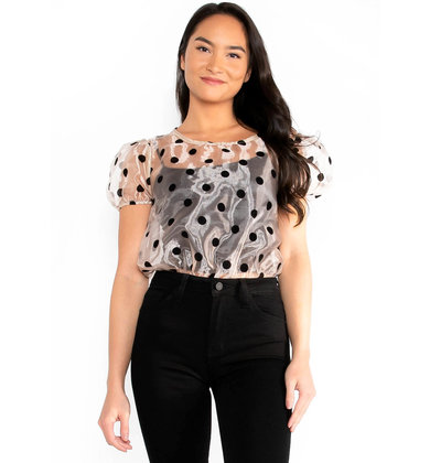 'TIL NEXT YEAR POLKA DOT BODYSUIT