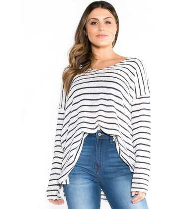 NICOLETTE STRIPED SWEATER