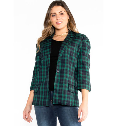 DECK THE HALLS PLAID BLAZER